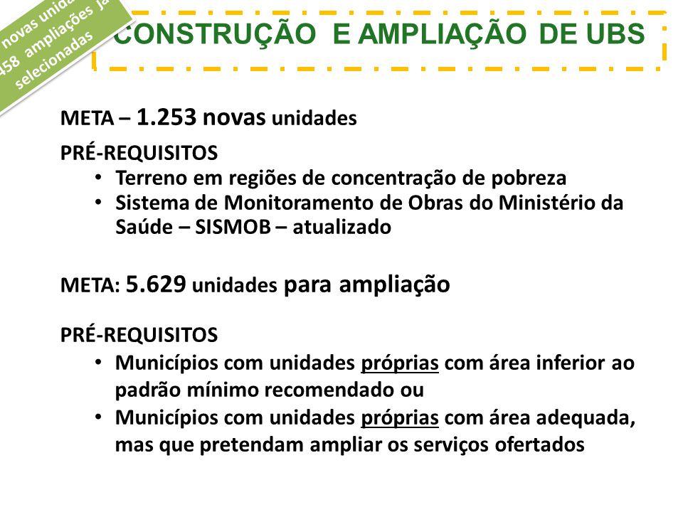 CONSTRUÇÃO E AMPLIAÇÃO DE UBS