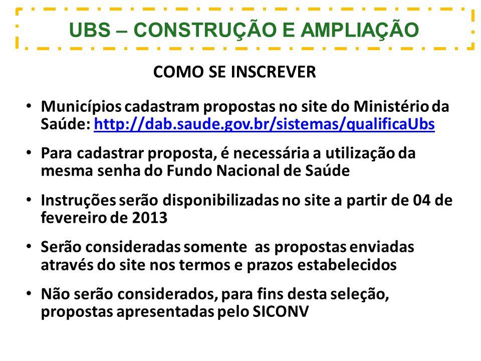 UBS – CONSTRUÇÃO E AMPLIAÇÃO