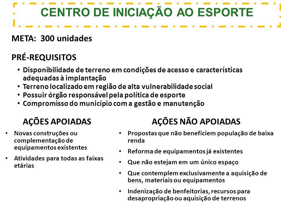 CENTRO DE INICIAÇÃO AO ESPORTE