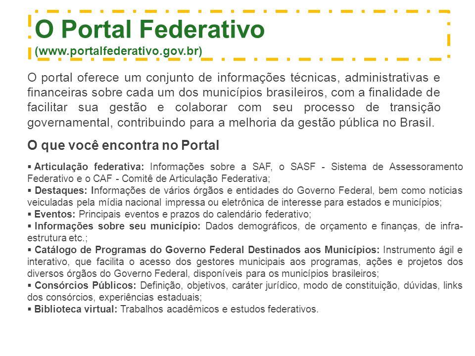 O Portal Federativo O que você encontra no Portal