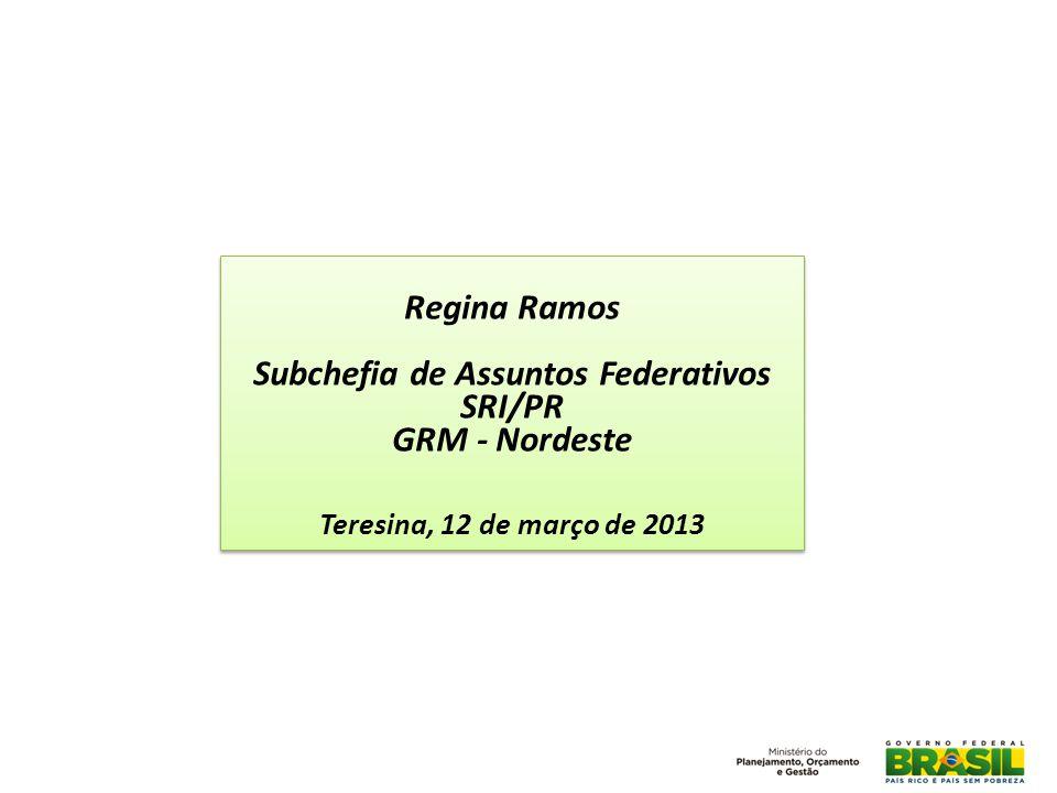 Subchefia de Assuntos Federativos SRI/PR