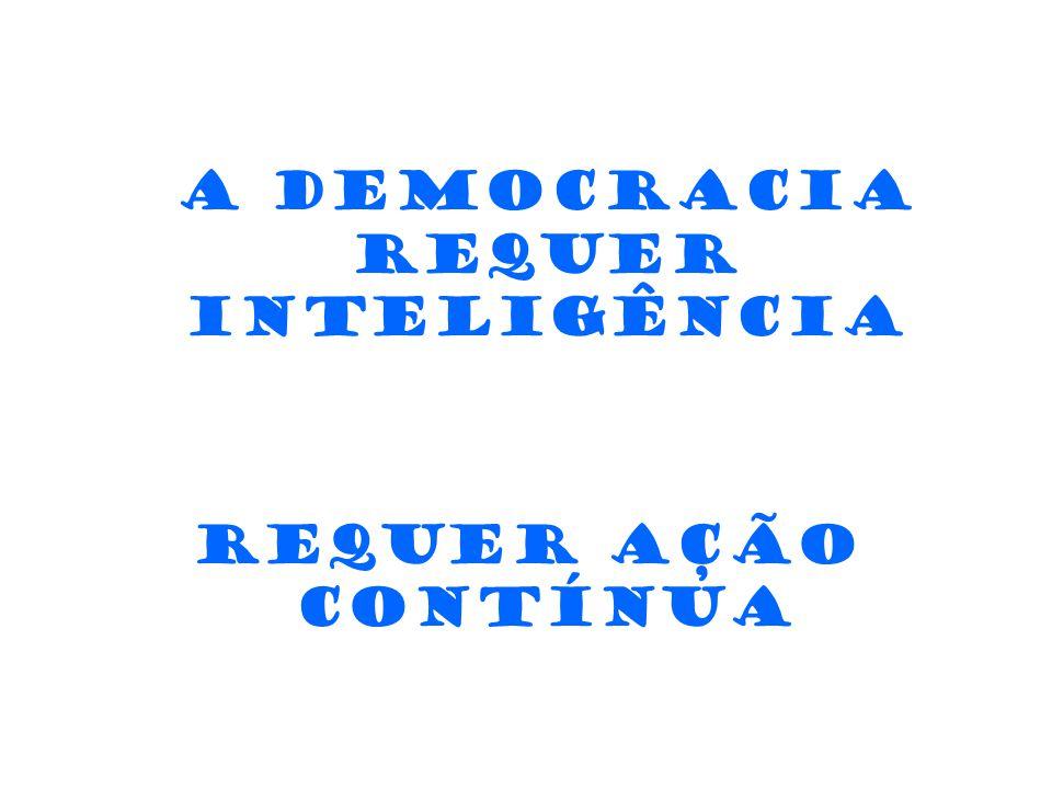 A democracia requer inteligência