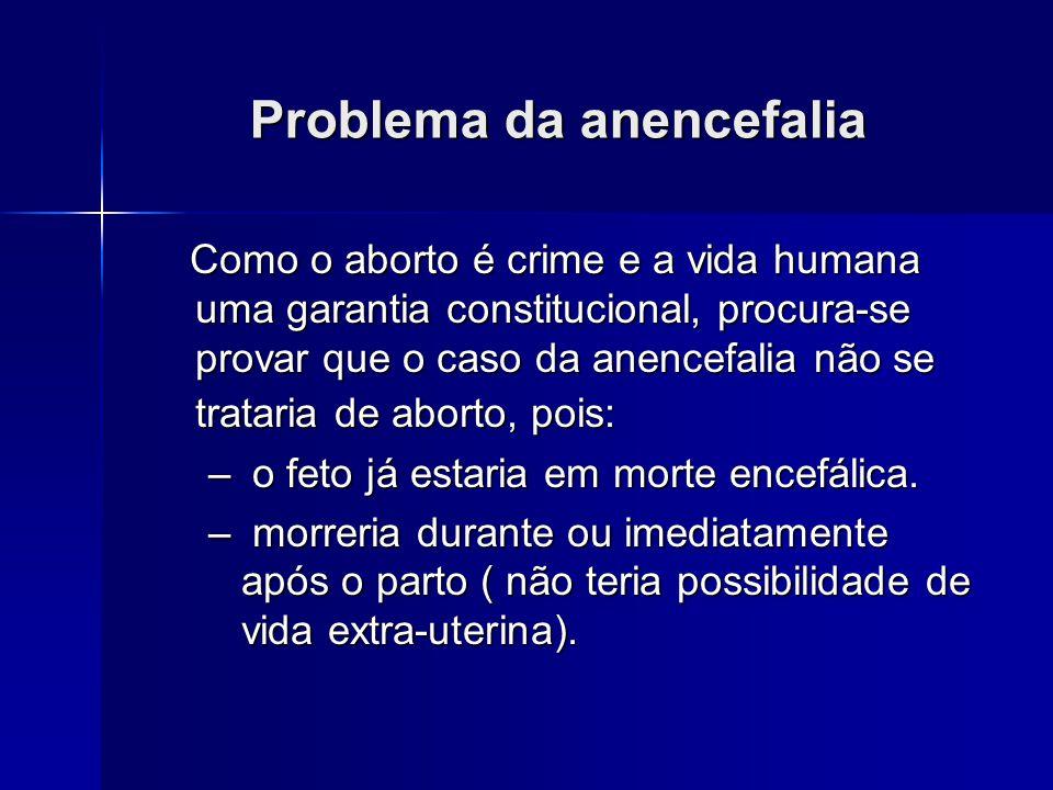 Problema da anencefalia