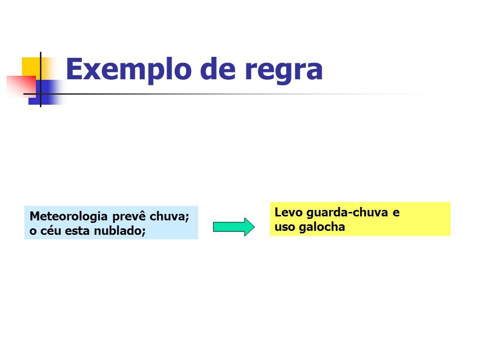 Exemplo de regra Levo guarda-chuva e uso galocha