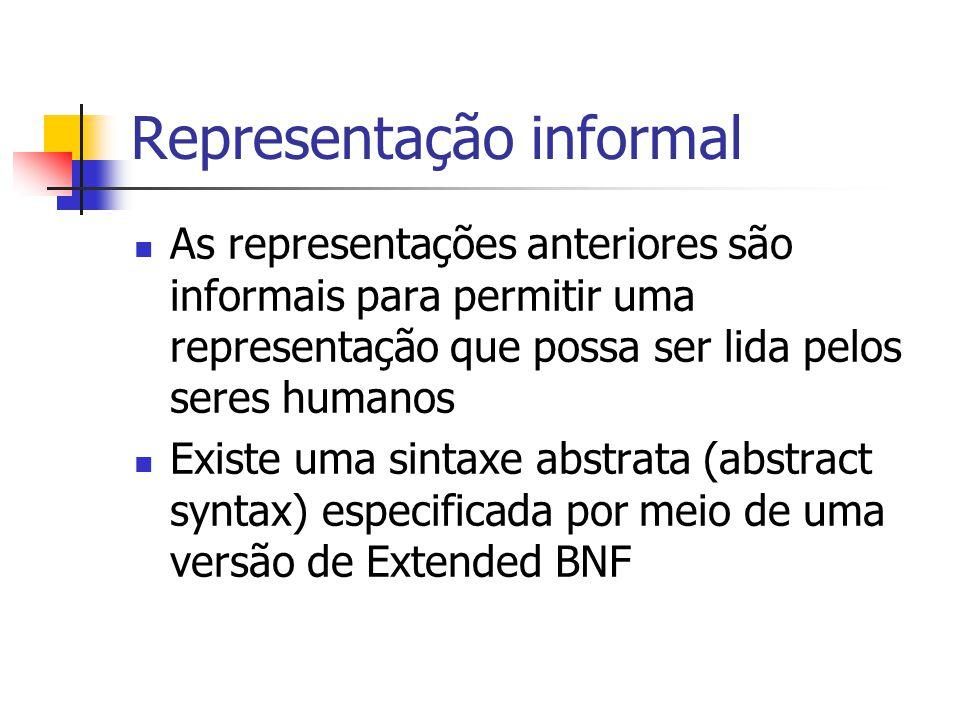 Representação informal
