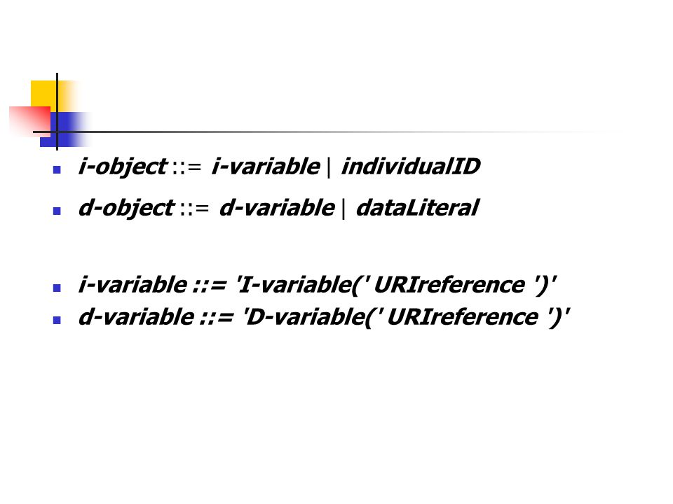 i-object ::= i-variable | individualID