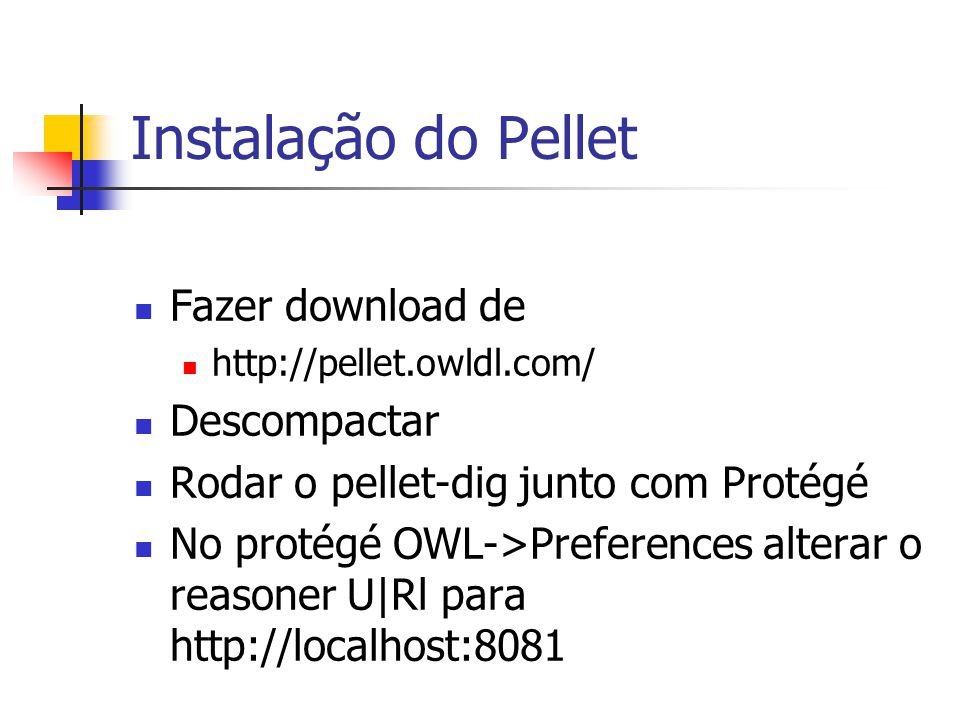 Instalação do Pellet Fazer download de Descompactar