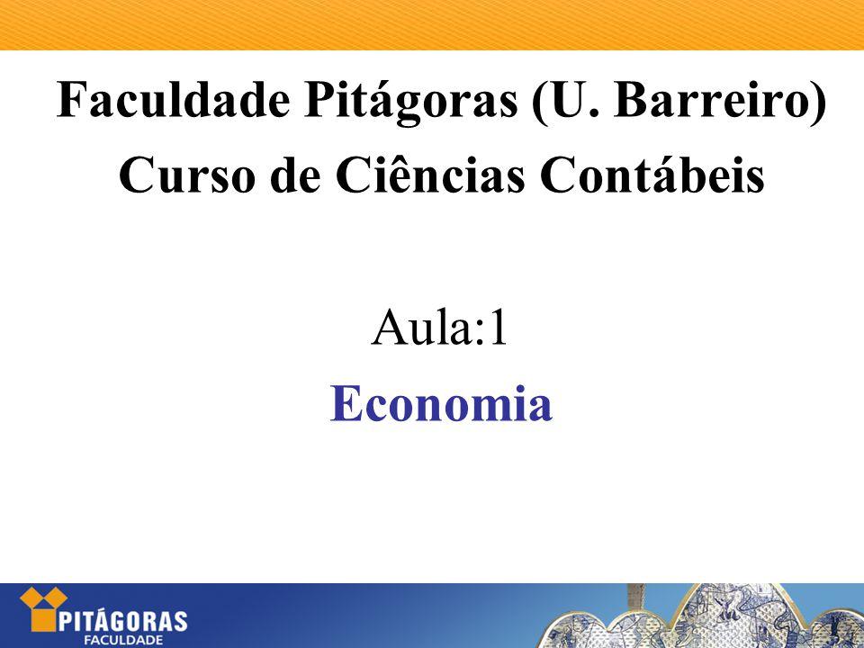 Faculdade Pitágoras (U. Barreiro) Curso de Ciências Contábeis