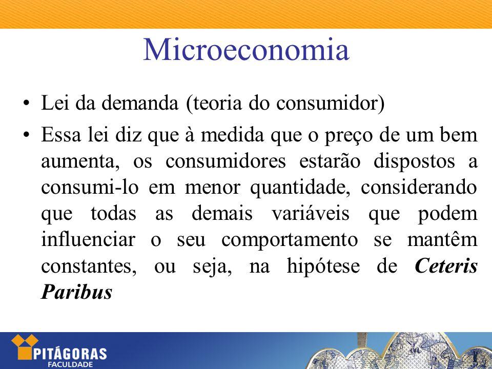 Microeconomia Lei da demanda (teoria do consumidor)