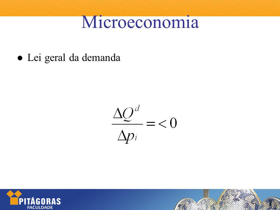 Microeconomia Lei geral da demanda
