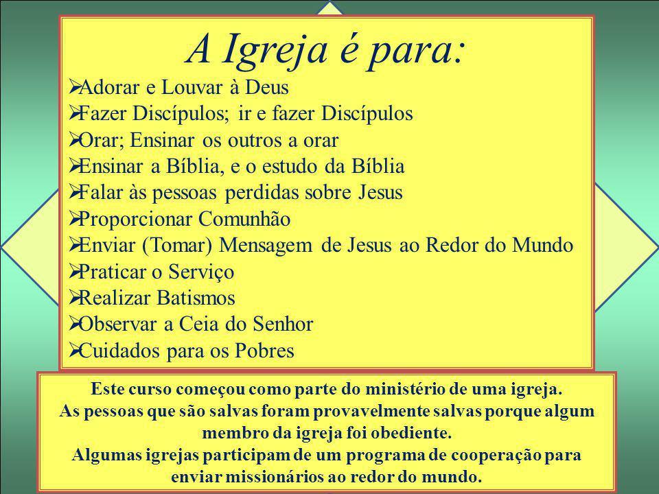Este curso começou como parte do ministério de uma igreja.