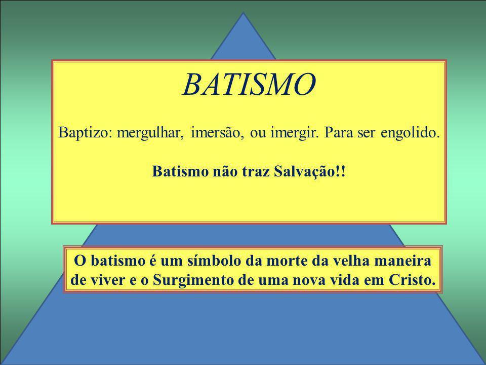 Batismo não traz Salvação!!