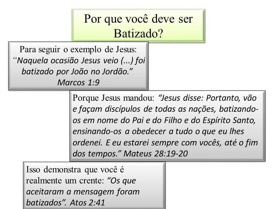 Por que você deve ser Batizado