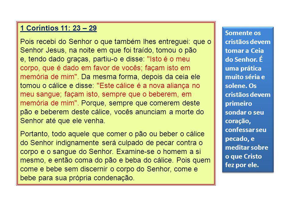 1 Coríntios 11: 23 – 29