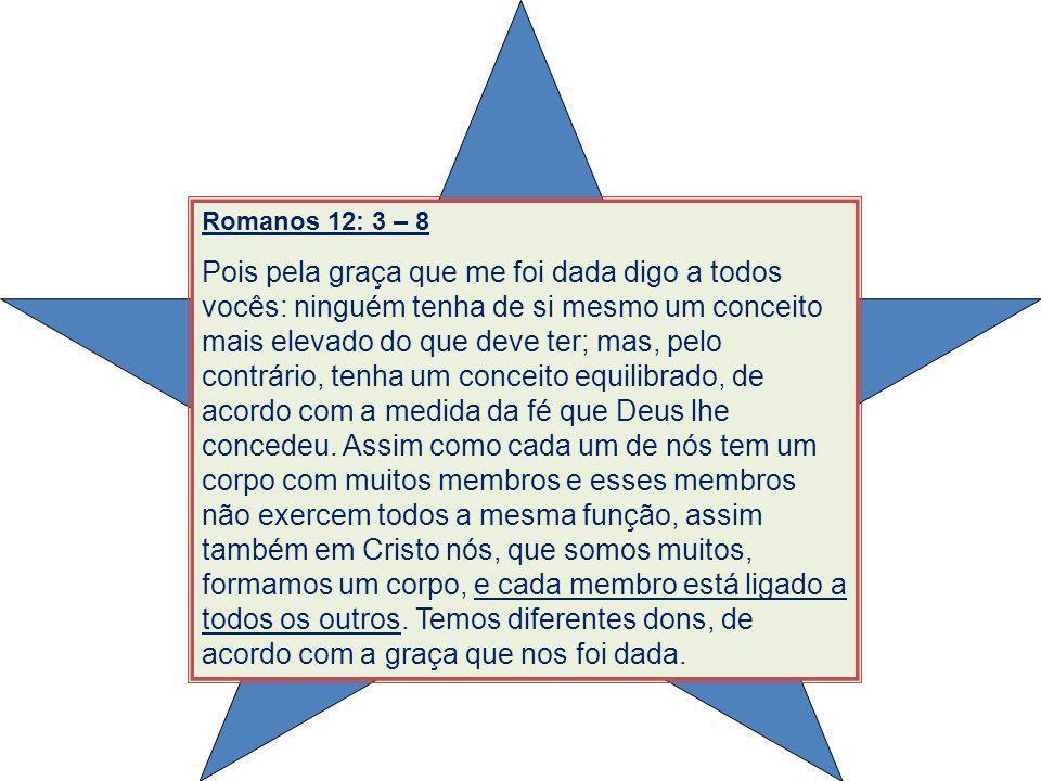 Romanos 12: 3 – 8