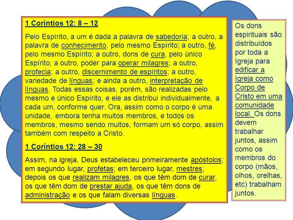 1 Coríntios 12: 8 – 12
