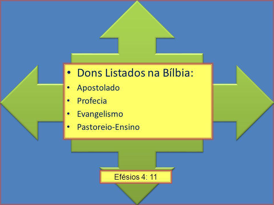 Dons Listados na Bílbia:
