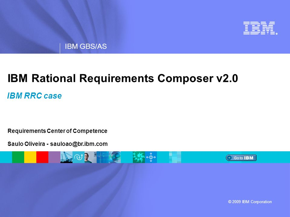 IBM Rational Requirements Composer v2.0