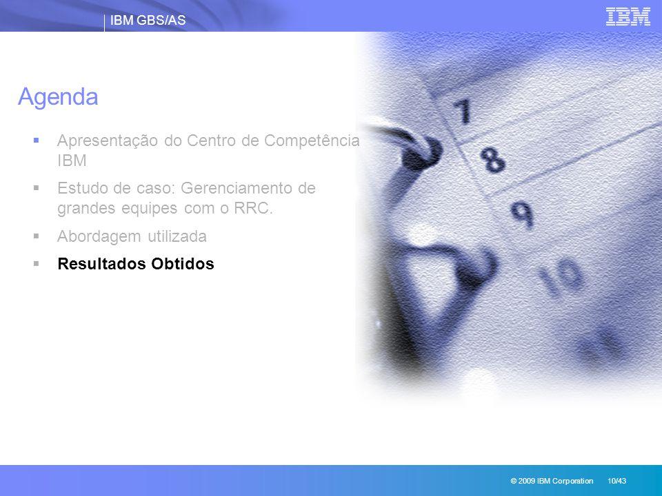 Agenda Apresentação do Centro de Competência IBM