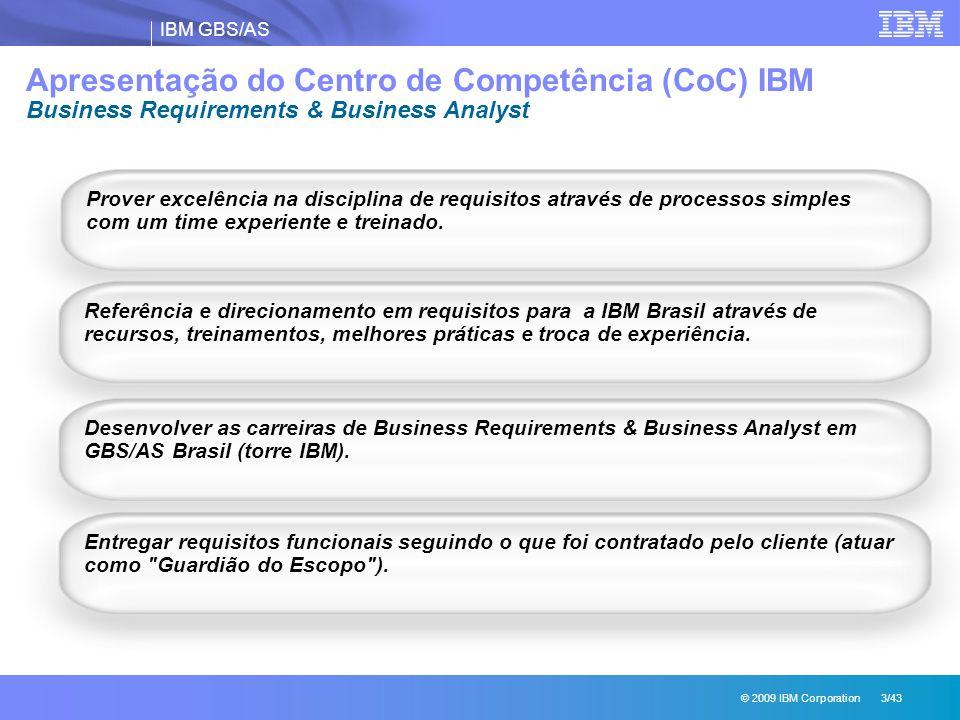 Apresentação do Centro de Competência (CoC) IBM Business Requirements & Business Analyst