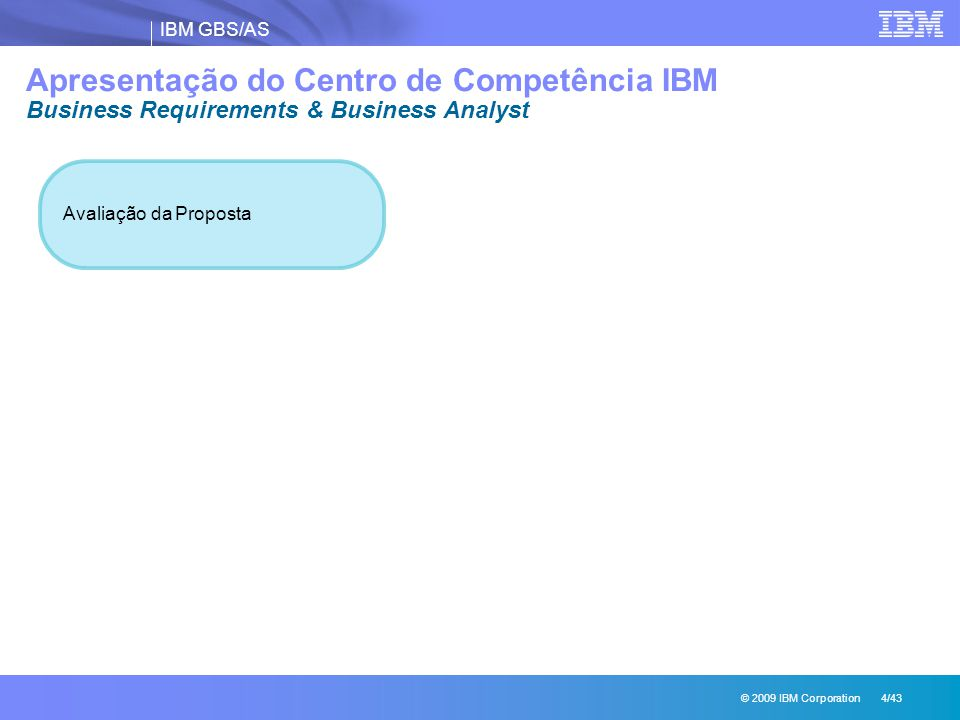 Apresentação do Centro de Competência IBM Business Requirements & Business Analyst