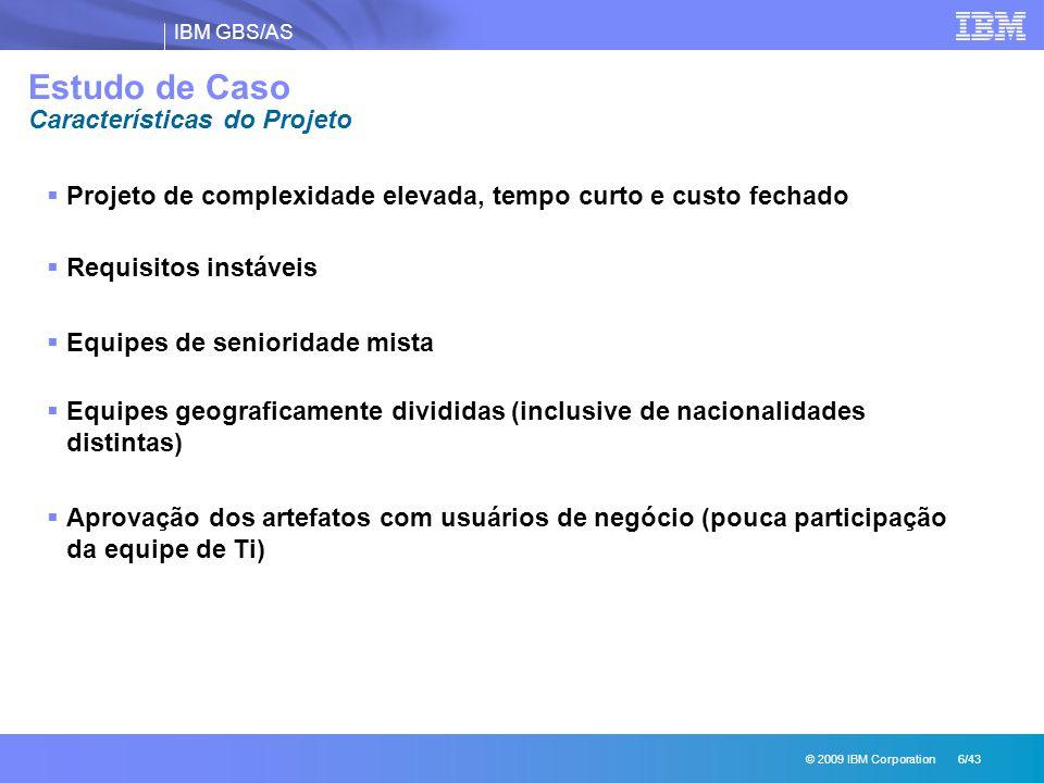 Estudo de Caso Características do Projeto
