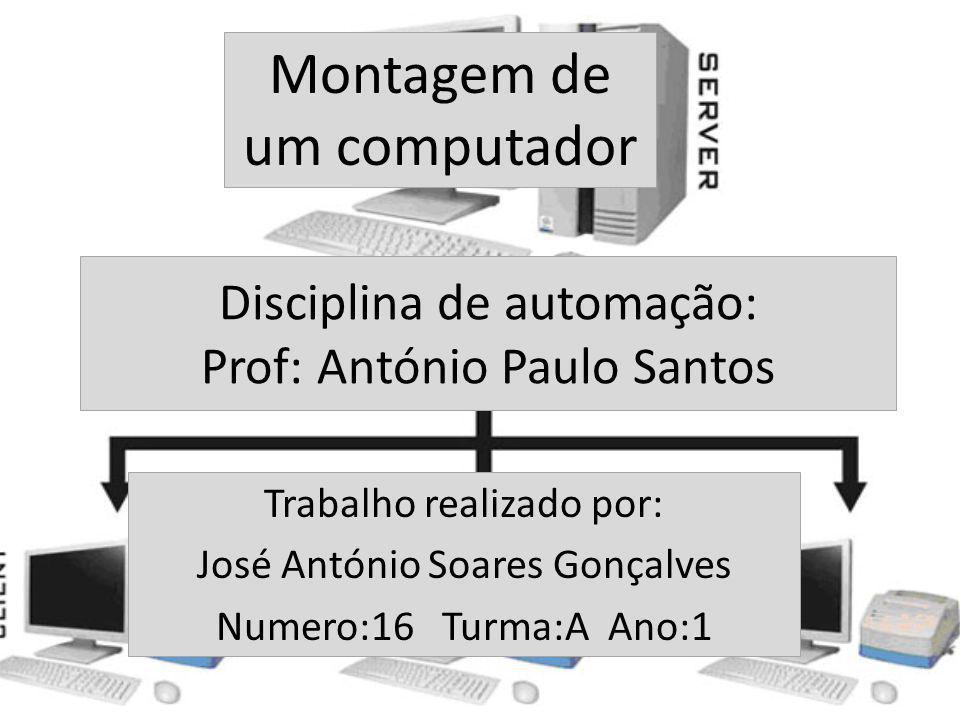 Disciplina de automação: Prof: António Paulo Santos