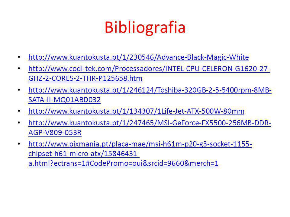 Bibliografia http://www.kuantokusta.pt/1/230546/Advance-Black-Magic-White.
