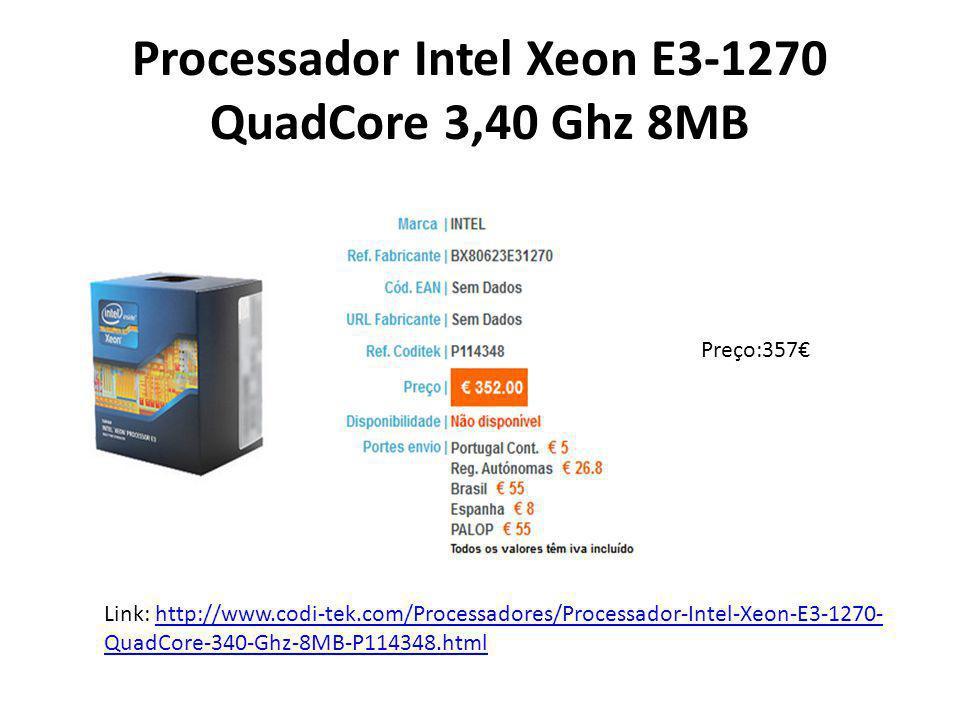 Processador Intel Xeon E3-1270 QuadCore 3,40 Ghz 8MB