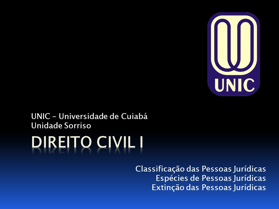 UNIC – Universidade de Cuiabá Unidade Sorriso