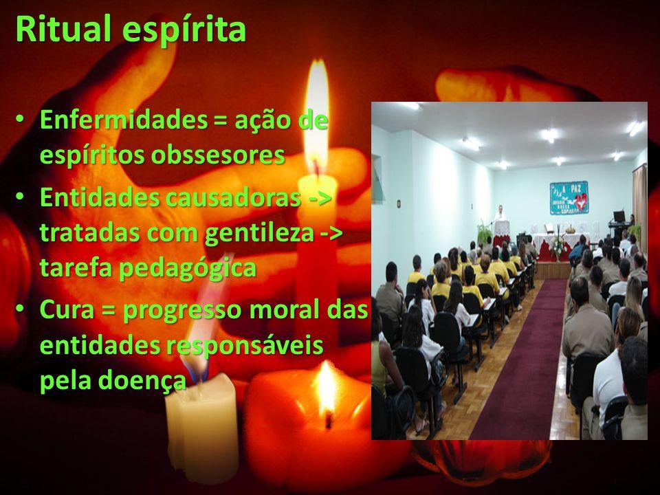 Ritual espírita Enfermidades = ação de espíritos obssesores