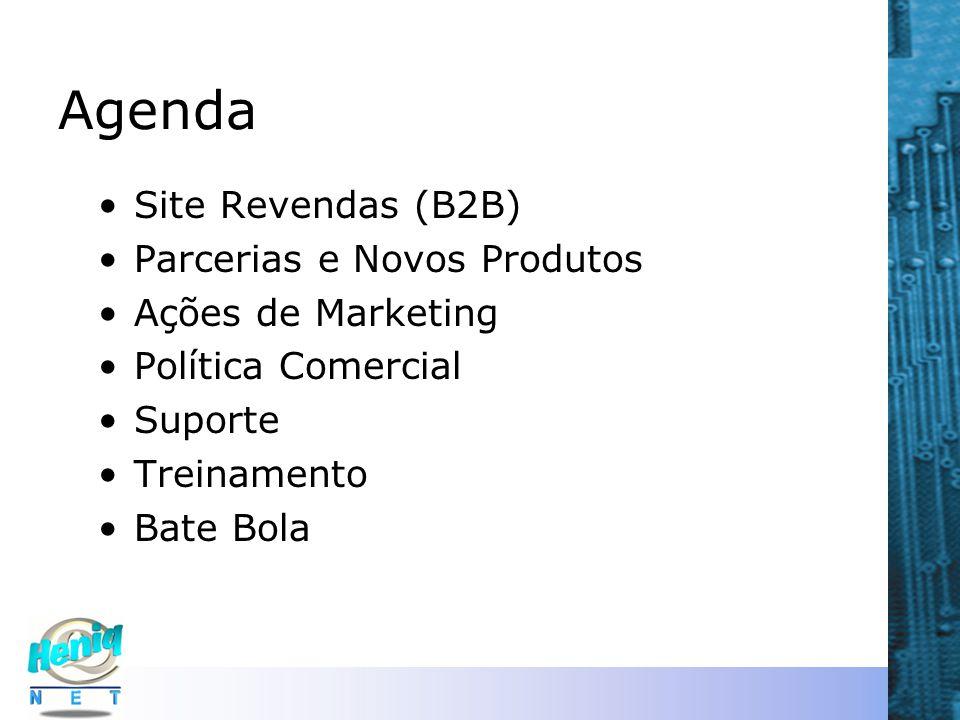 Agenda Site Revendas (B2B) Parcerias e Novos Produtos