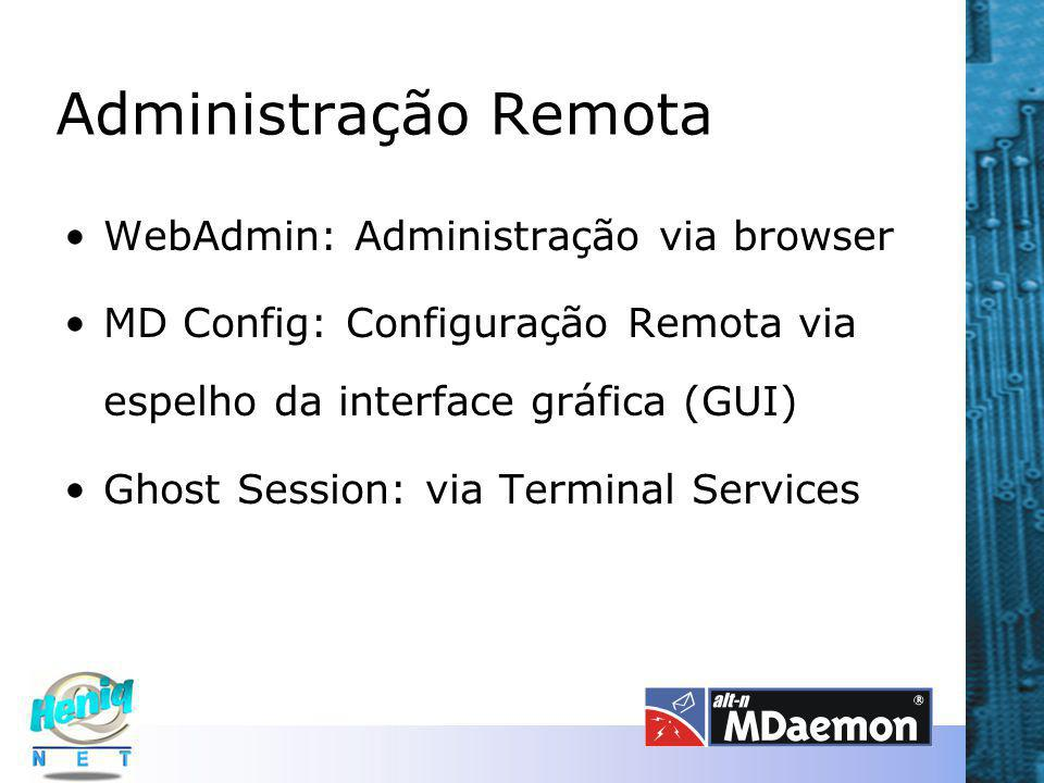 Administração Remota WebAdmin: Administração via browser