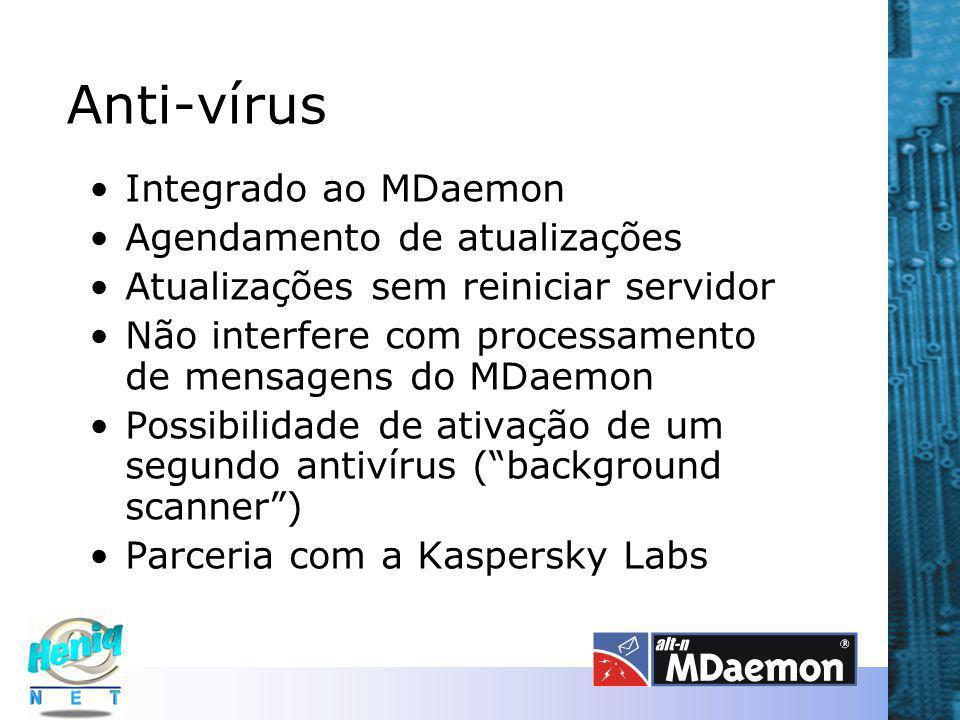 Anti-vírus Integrado ao MDaemon Agendamento de atualizações