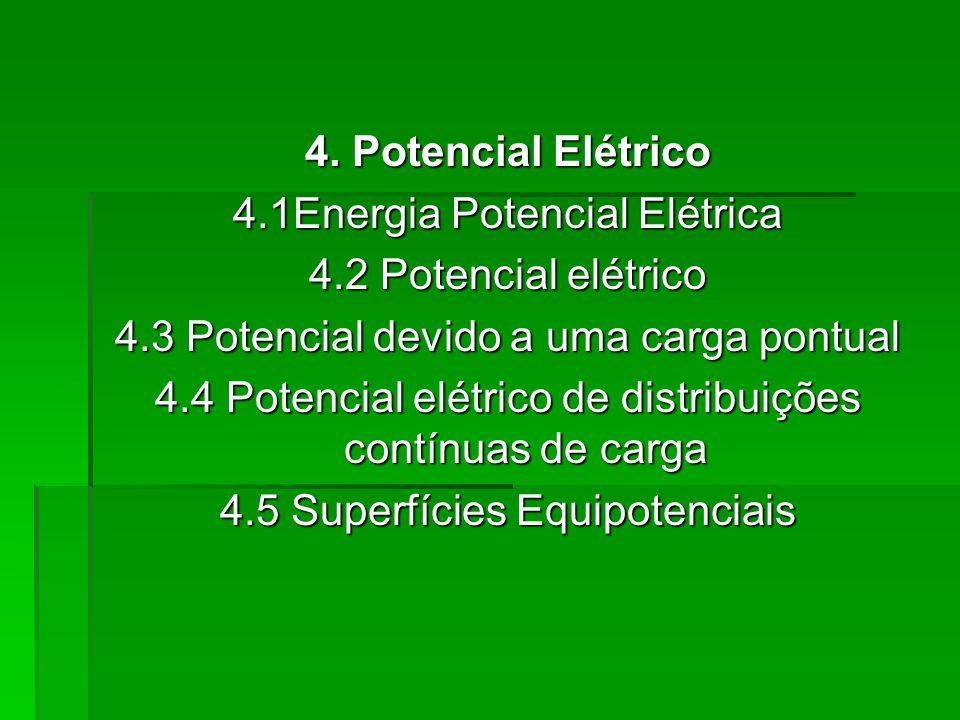 4.1Energia Potencial Elétrica 4.2 Potencial elétrico