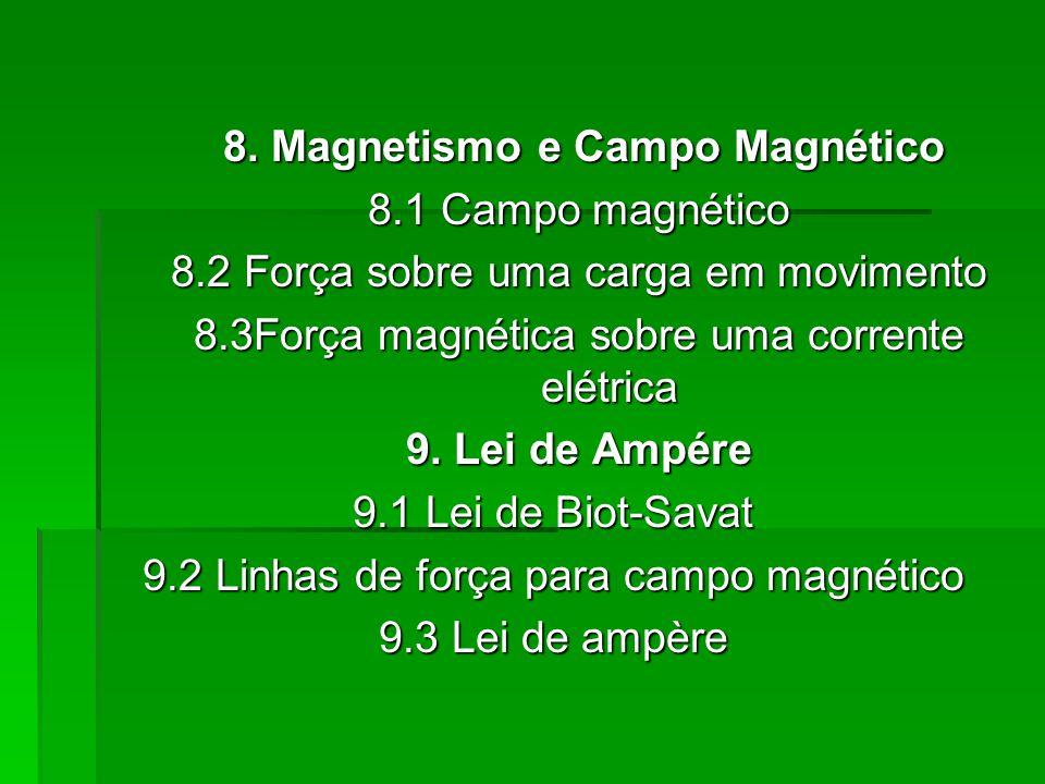 8. Magnetismo e Campo Magnético 8.1 Campo magnético