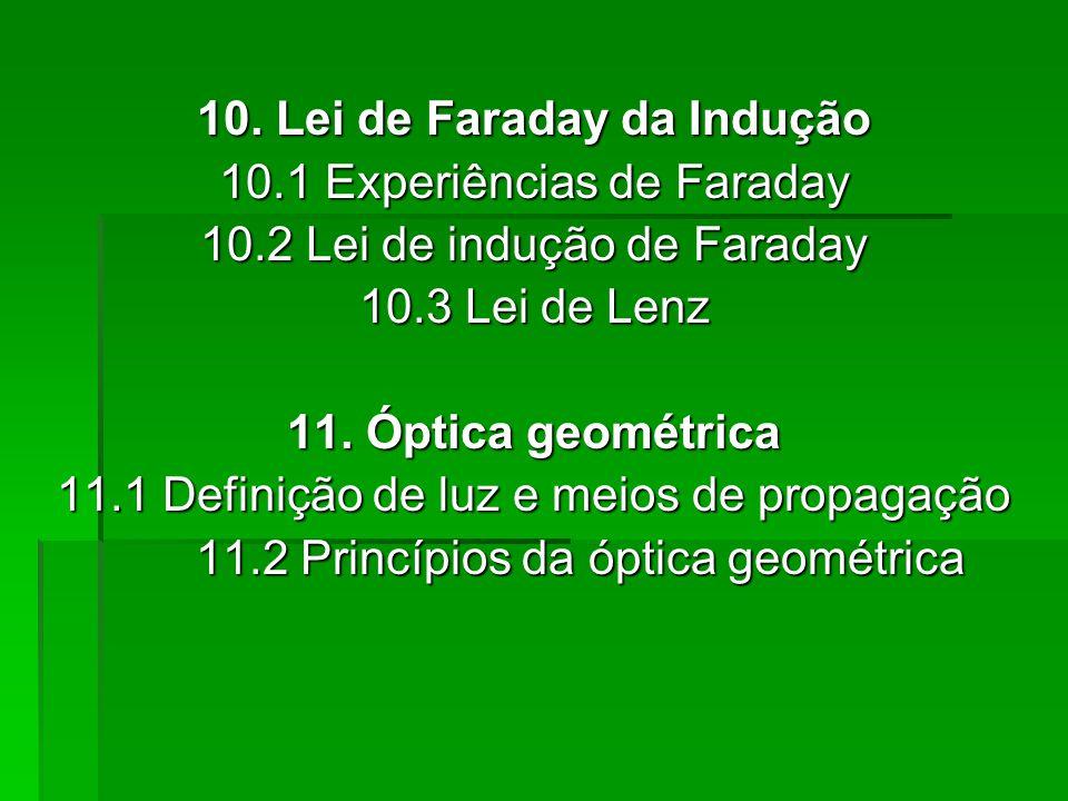 10. Lei de Faraday da Indução 10.1 Experiências de Faraday