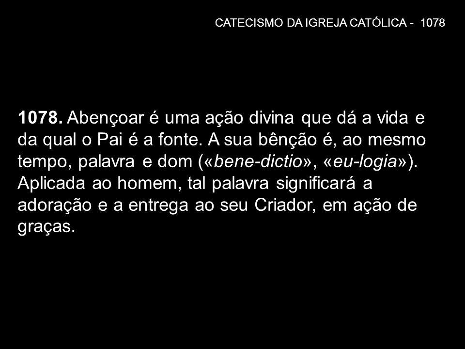 CATECISMO DA IGREJA CATÓLICA - 1078