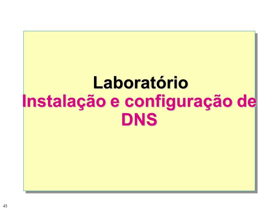 Instalação e configuração de DNS
