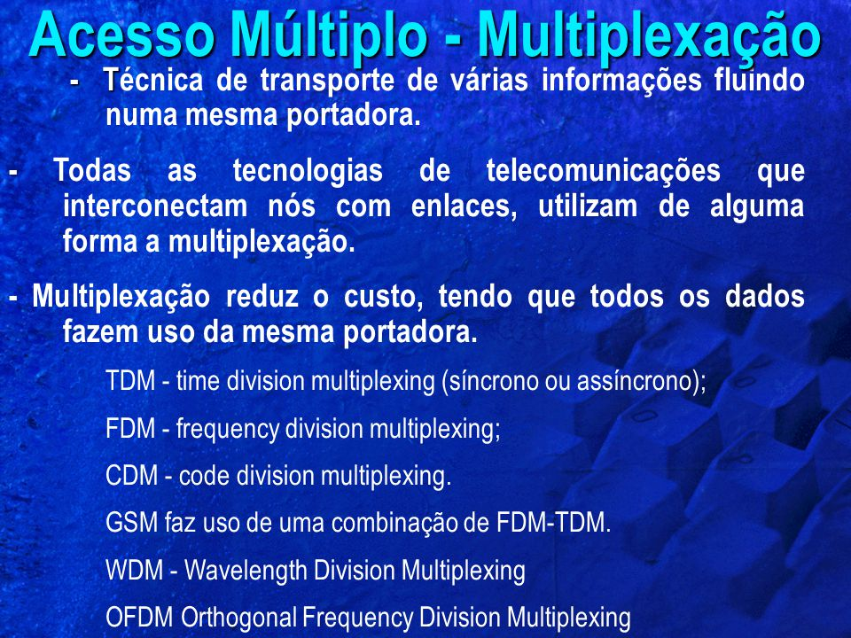Acesso Múltiplo - Multiplexação