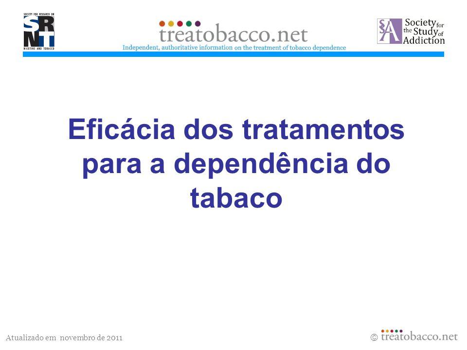 Eficácia dos tratamentos para a dependência do tabaco