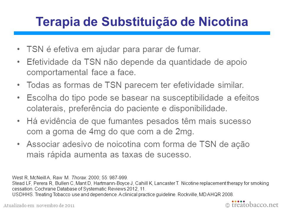 Terapia de Substituição de Nicotina