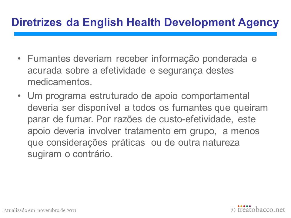 Diretrizes da English Health Development Agency