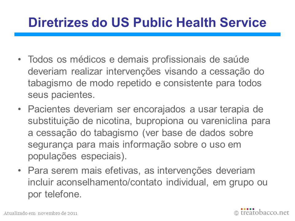 Diretrizes do US Public Health Service
