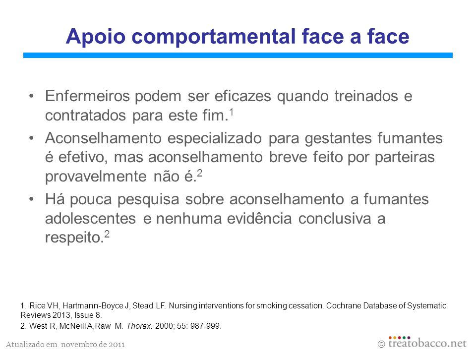 Apoio comportamental face a face