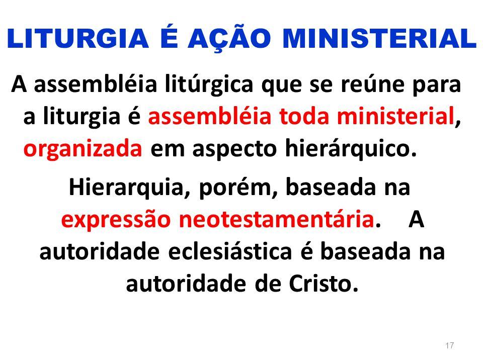 LITURGIA É AÇÃO MINISTERIAL