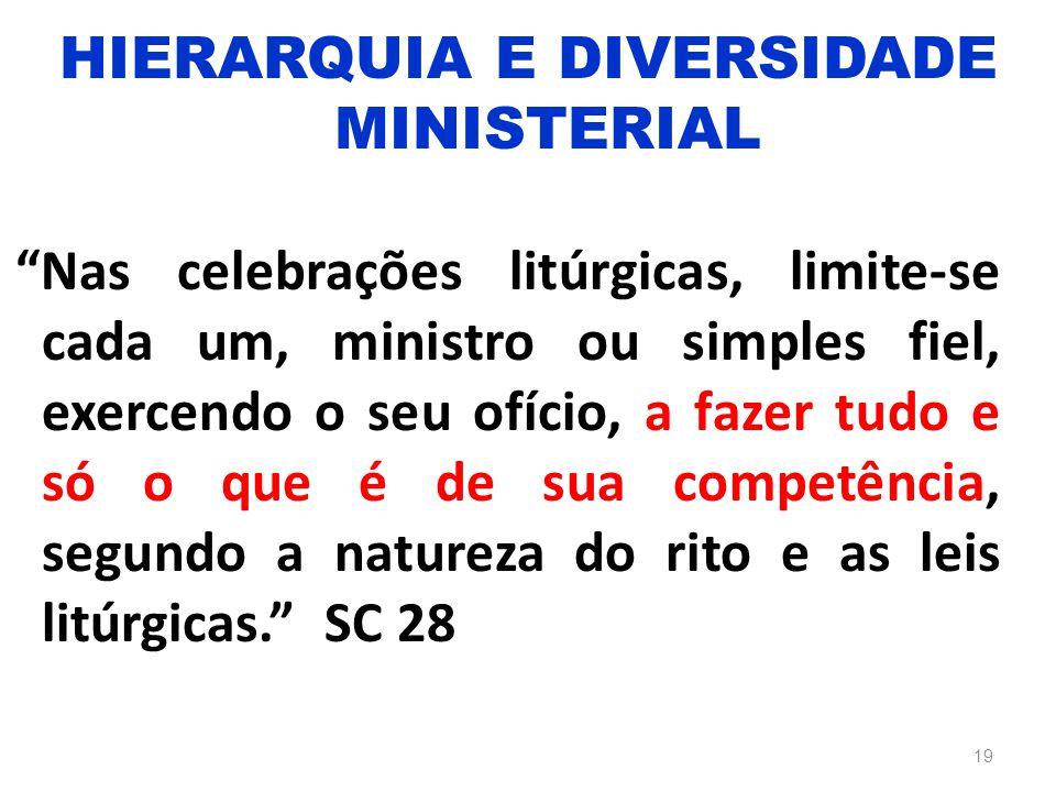 HIERARQUIA E DIVERSIDADE MINISTERIAL