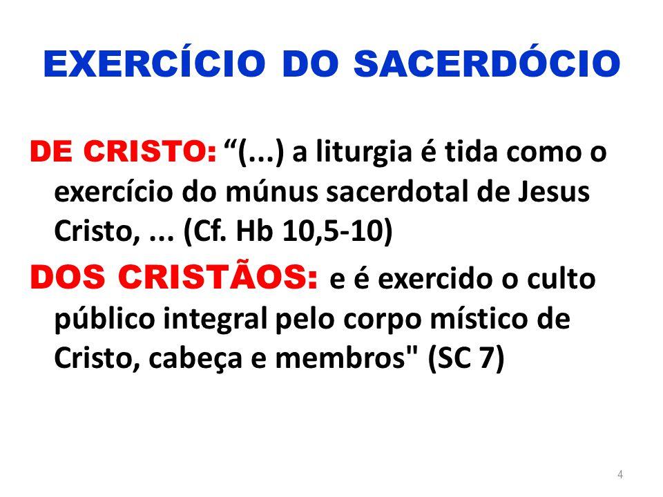 EXERCÍCIO DO SACERDÓCIO