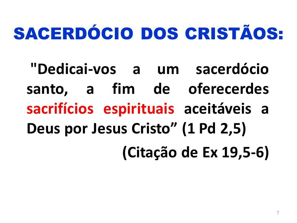 SACERDÓCIO DOS CRISTÃOS: