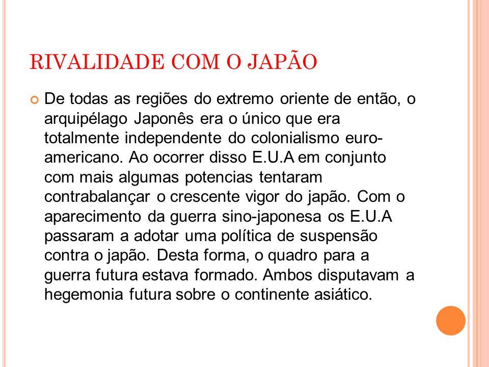 RIVALIDADE COM O JAPÃO